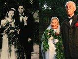 重庆老兵夫妇同地点拍婚纱照