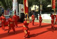 水峪村村民现场上演非遗项目古中幡