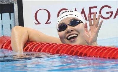 段子手傅园慧夺得女子100米仰泳铜牌 打破亚洲纪录