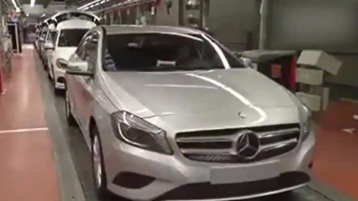 德国制造:奔驰汽车的生产过程,全程只看见几个工人!
