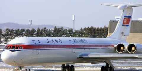 North Korea airlines an airliner for fire emergency alternate Shenyang Airport