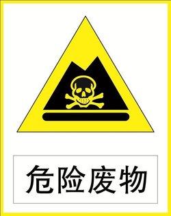 危险废物 环境保护标志 安全标示警示指示牌