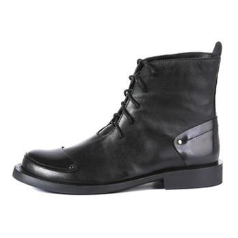 休闲低跟短靴 手工牛皮马丁靴皮鞋