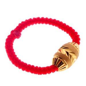 黄金红绳转运珠戒指,红绳转运珠戒指编法