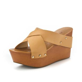 松糕鞋 铆钉凉拖鞋