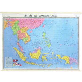 东南亚地图 宽1.2米 高0.9米