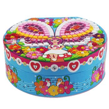 儿童手工diy益智玩具音乐珠宝首饰盒儿童diy手工制作