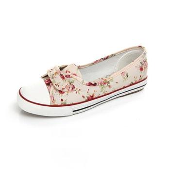 森女清新帆布鞋浅口懒人鞋平底女鞋