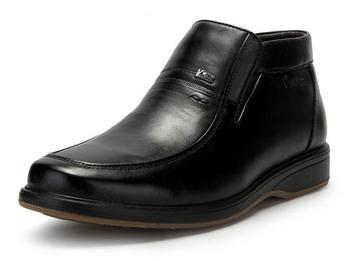 意尔康 男正装皮鞋 黑