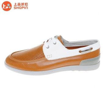 卡丹路专柜正品男款真皮凉鞋y679319