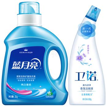 蓝月亮深层洁净亮白增艳洗衣液(自然清香)3kg