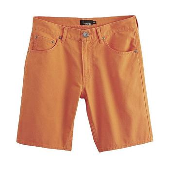 时尚达人炫彩全棉短裤 橙色 休闲短裤 男士裤子 男装