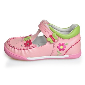 女童凉鞋 粉色女童皮鞋