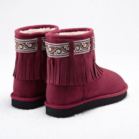 雪地靴 红色 - 女士靴子/女鞋