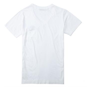 西班牙viishow百搭休闲纯白时尚潮男v领男士短袖t恤