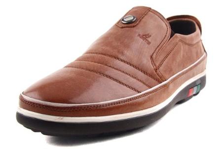 意大利.富铤 男子休闲皮鞋