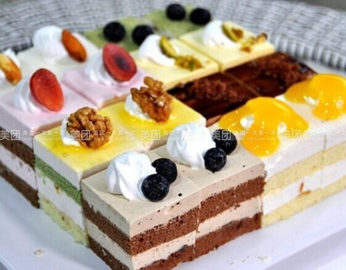 欧式正方形蛋糕图片