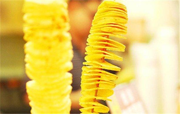 韩国旋风薯塔1份,精致美味