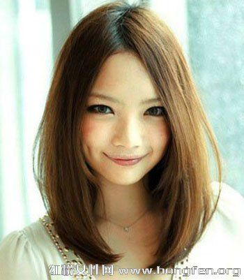 女生长头发刘海中分分享展示图片