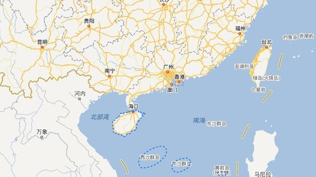 中国地图福建省在哪里
