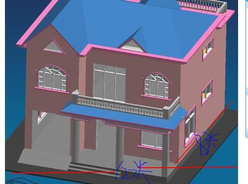 农村四间二楼房带院子设计图展示
