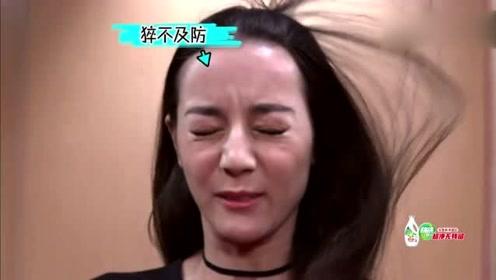 迪丽热巴、谢娜挑战超强吹风机吹脸,这颜值能打几分!