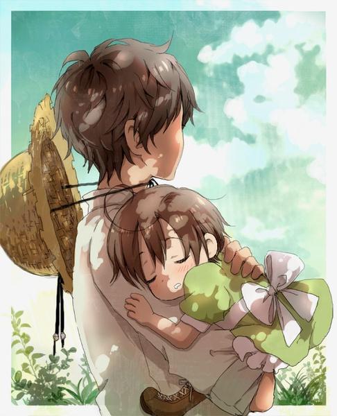 我想要几张漫画版的哥哥和妹妹的温馨图_360