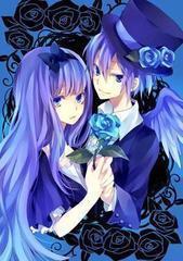 谁有紫色头发的动漫美女和动漫帅哥的图
