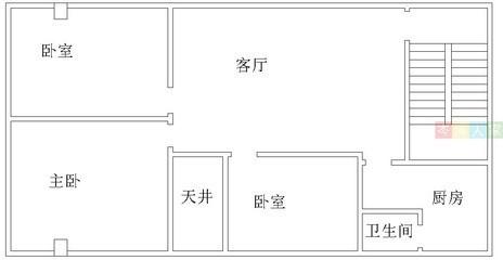 5米的房子平面图,一层加隔楼,二层一房一厅图片