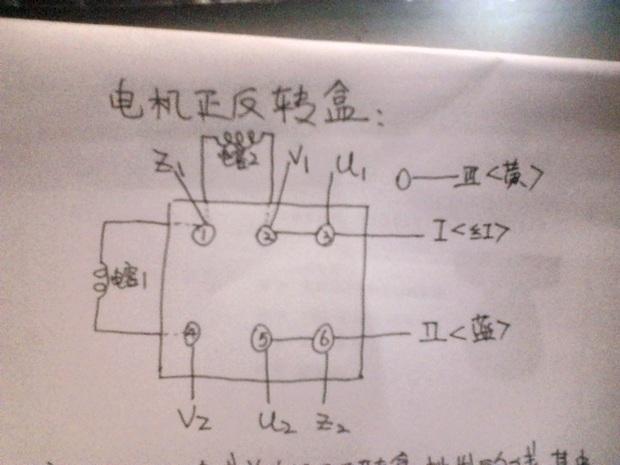 220v电机正反转接线图z1