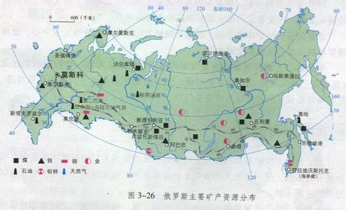 俄罗斯南北跨纬度约40度位于北纬41′到北纬81°49′之间.