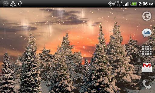 雪花飘动态壁纸截图3