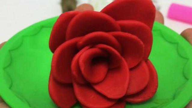 玩具视频 橡皮泥手工制作美丽后花园 亲子游戏