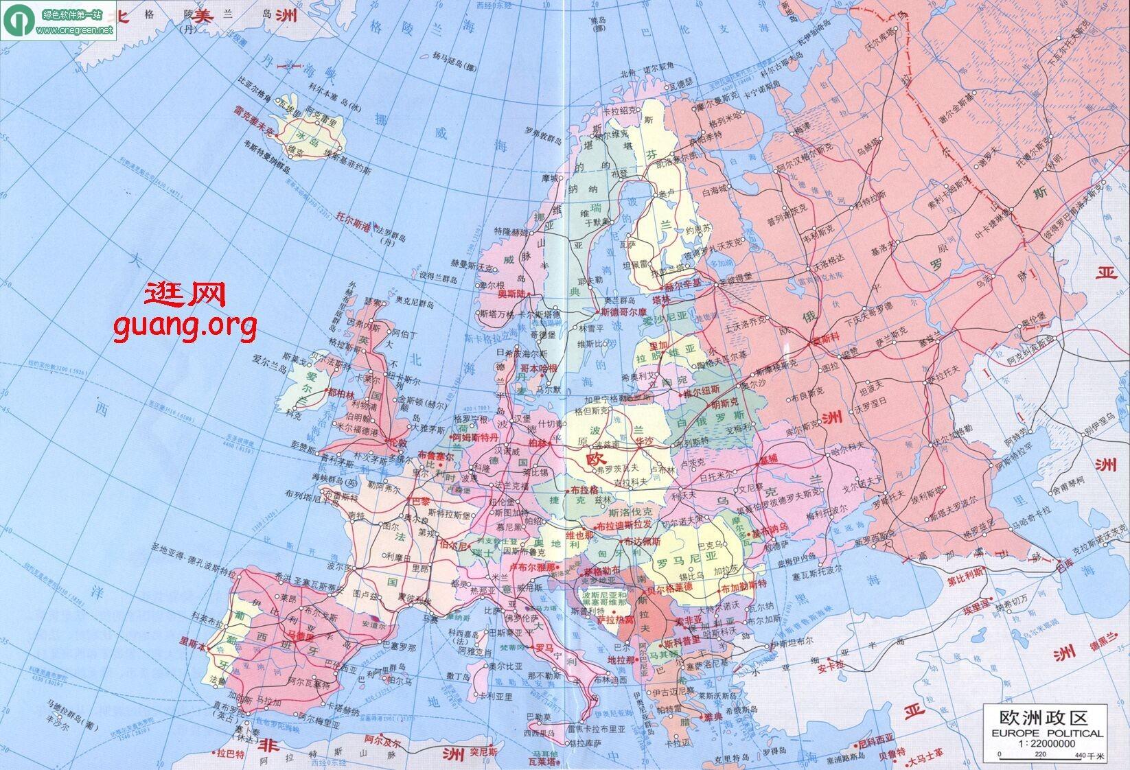 冰岛国家地图中文版
