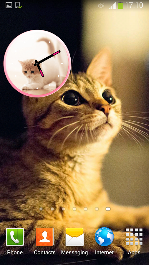 得到这个可爱的猫的时钟