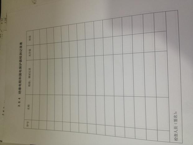 护器检测记录表填