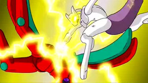 宠物小精灵之超梦VS代欧奇希斯,从地面打到太空实在太精彩了