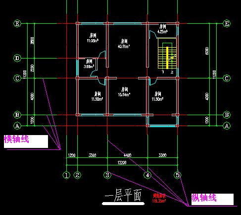 建筑图纸中的图纸看有轴线作用的中p怎么弯表示图片