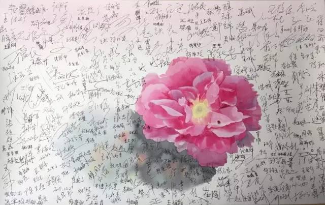 更幸运的是,我有一支水彩笔, 在水彩纸上描绘我爱的玫瑰花.