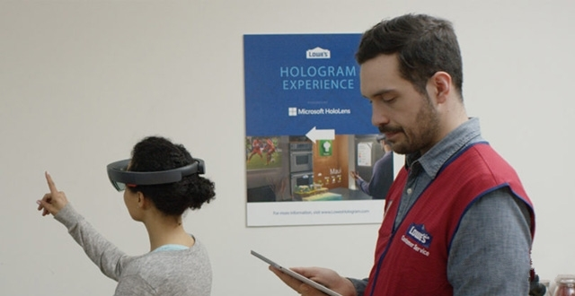 微软HoloLens与Lowe's通力合作