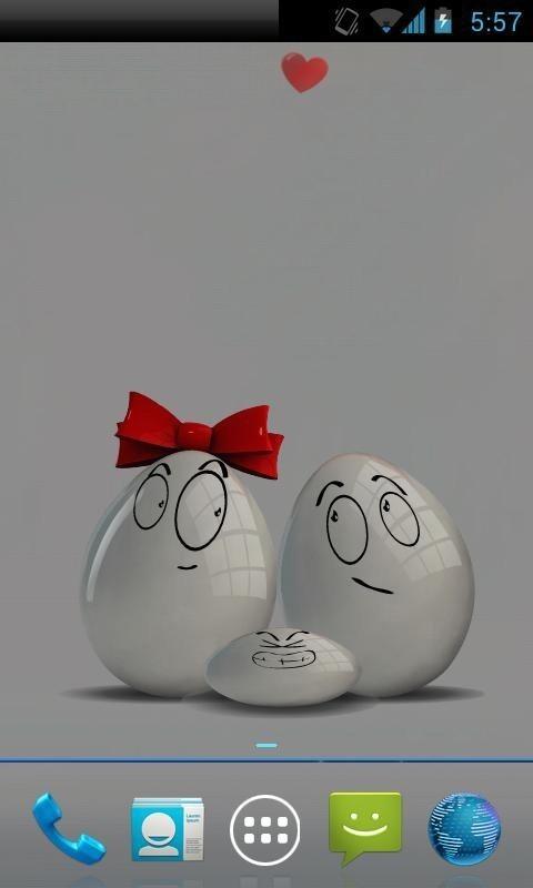 鸡蛋动画手机壁纸