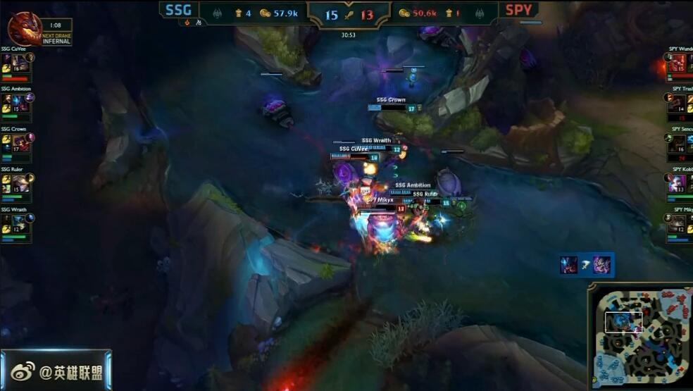 LOL S6总决赛 三星SSG稳扎稳打击败SPY