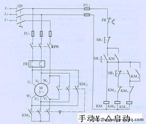 星三角自隅减压启动电机接线盒内6个接线柱的接法