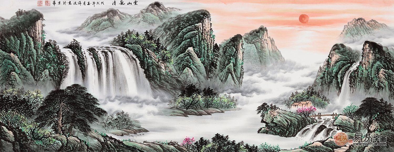 电视墙挂画山水画,装饰新风景好处多