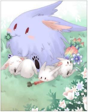 蓝疯兔卡片