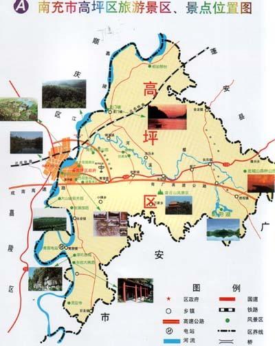 四川省南充市高坪区胜观镇风景