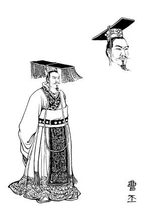 好看的皇帝手绘图片