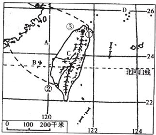 """读""""台湾省地图"""",完成下列要求"""
