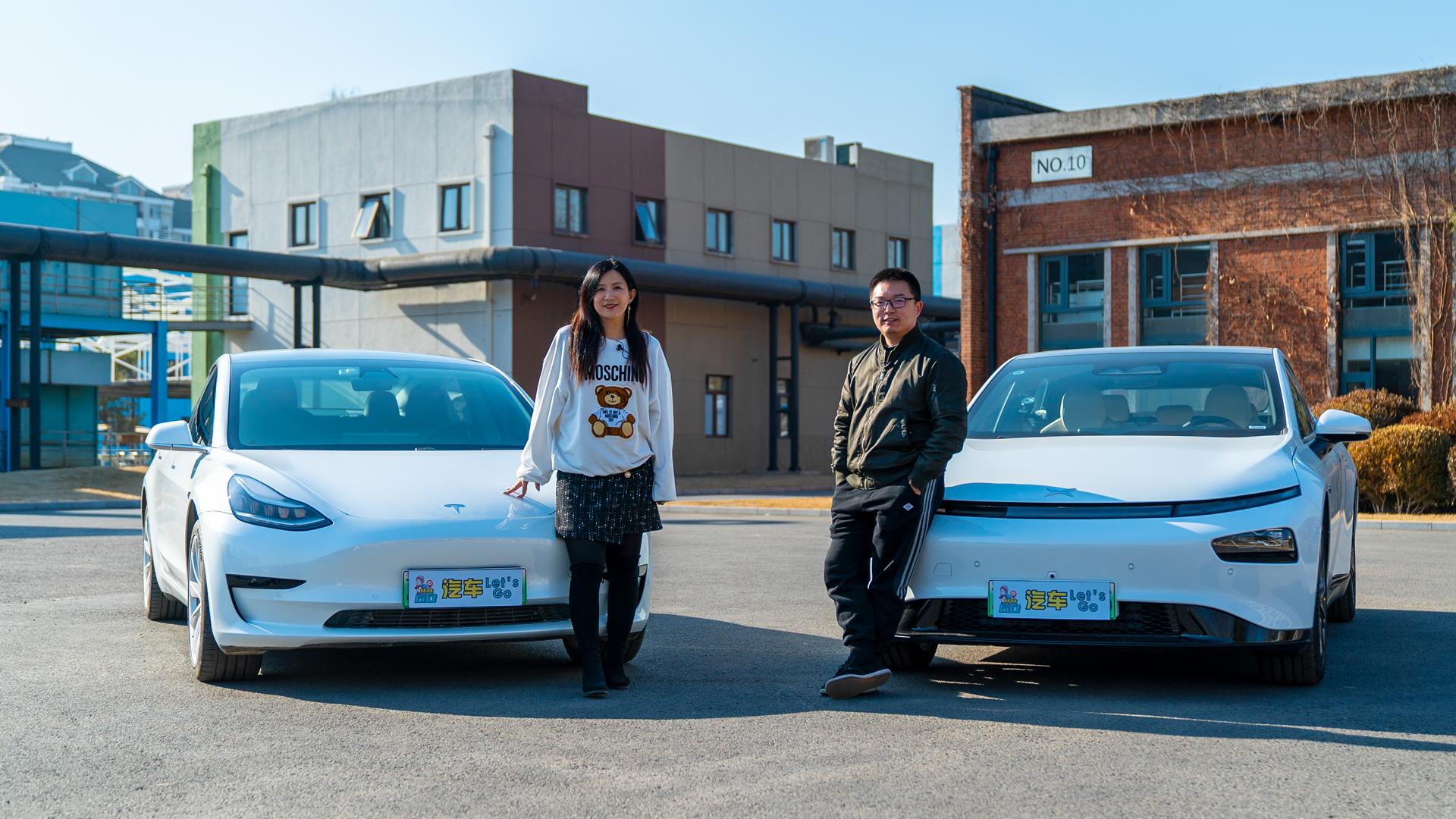 林林GO 中型新能源轿车横评—小鹏P7对比特斯拉Model 3