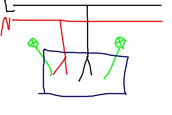 两个双控开关控制两个灯,每个接线盒里有2个火线2根零线两根回路的接